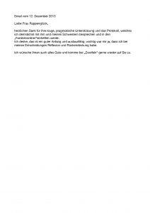Dankes-Email vom 12.12.2013
